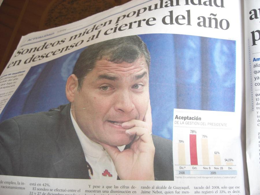 Ecuadors historie - President Rafael Correa