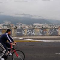 På sykkel i Quito