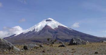Andesfjellene i Ecuador. Her Cotopaxi.