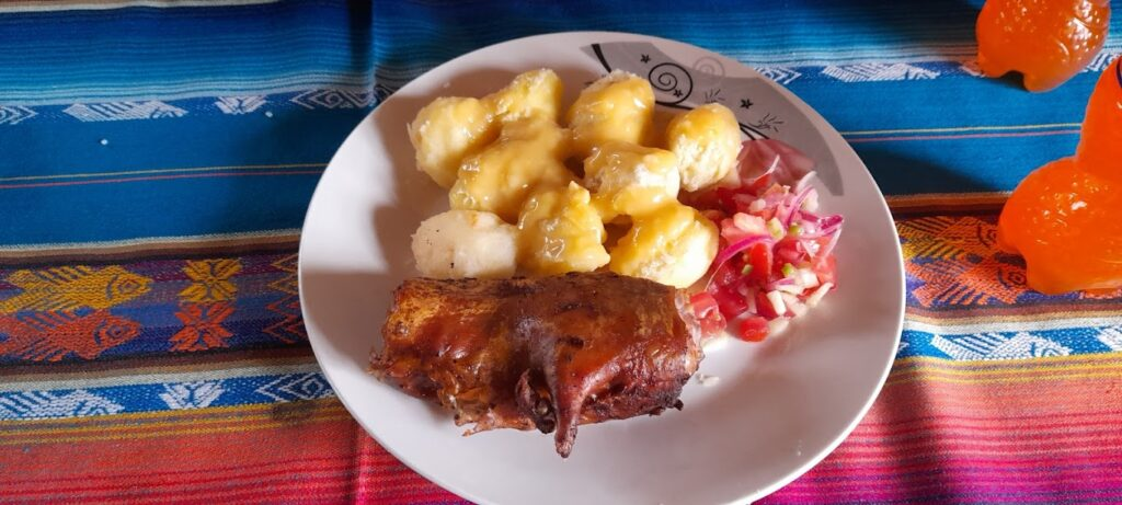 God mat fra Ecuador inkluderer også marsvin